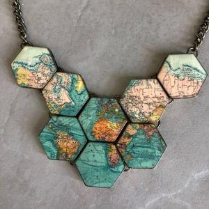Modcloth map necklace